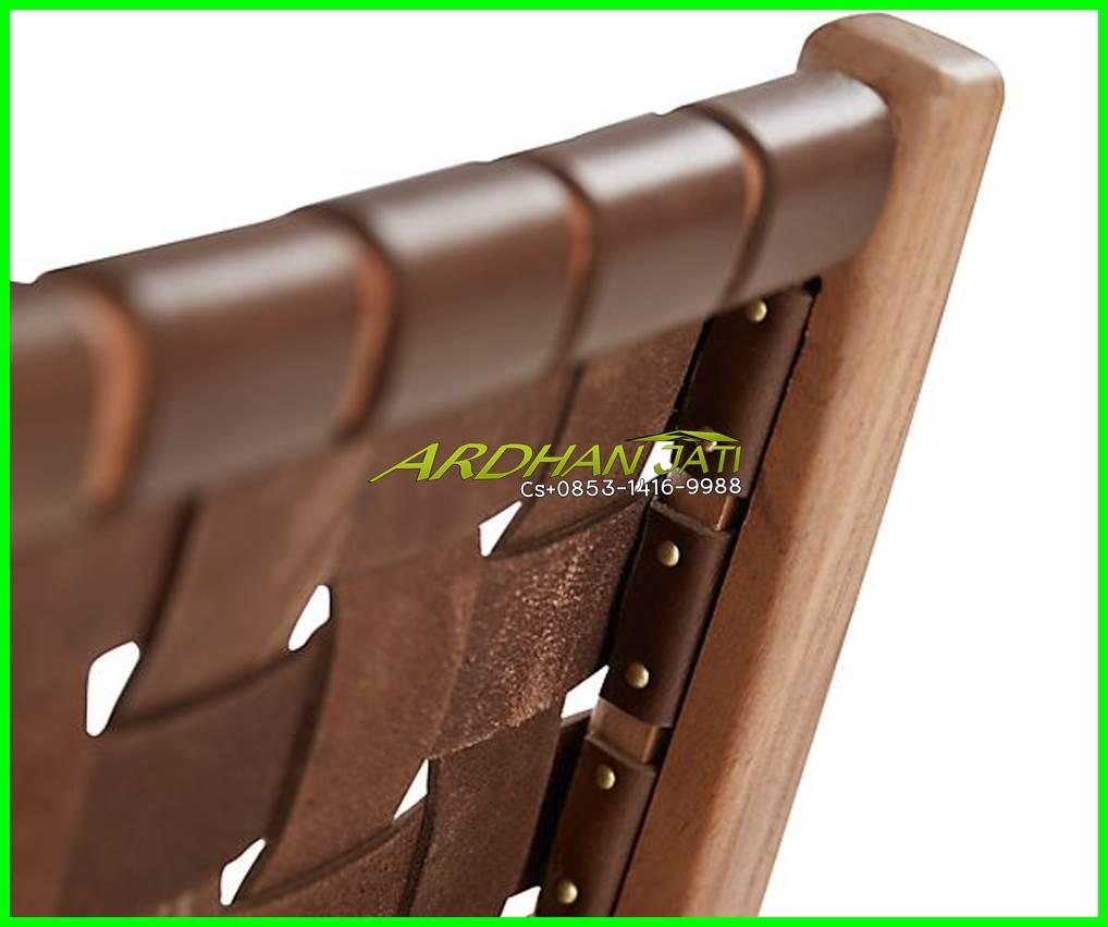 Kursi Jati Vinatge-Leather ArmChair