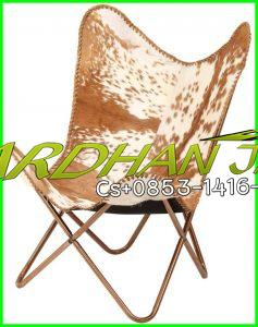 Goat Leather Iron Chair