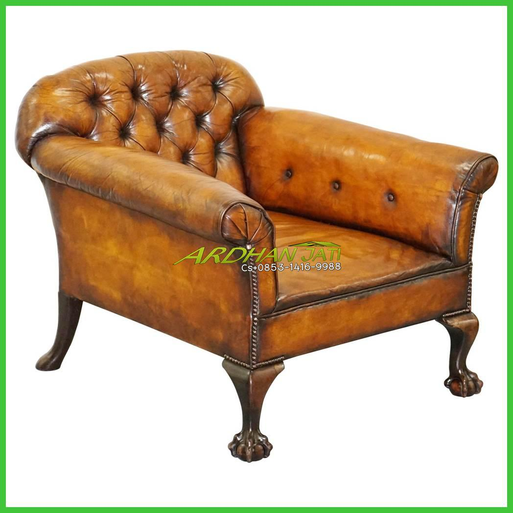 Victorian Leather Armchair