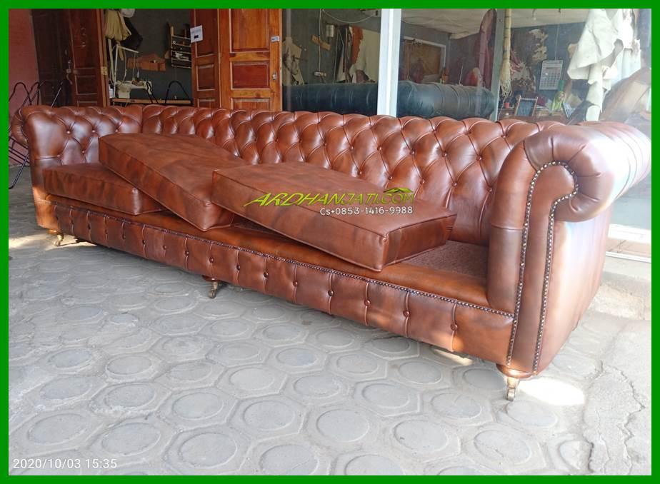 Leather Sofa Minimalis Chesterfield Terbaik Furniture Jepara