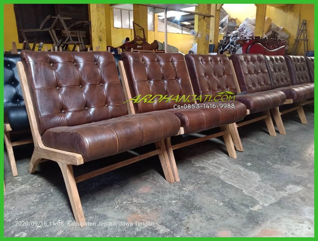 Sofa Santai Kulit Terbaru