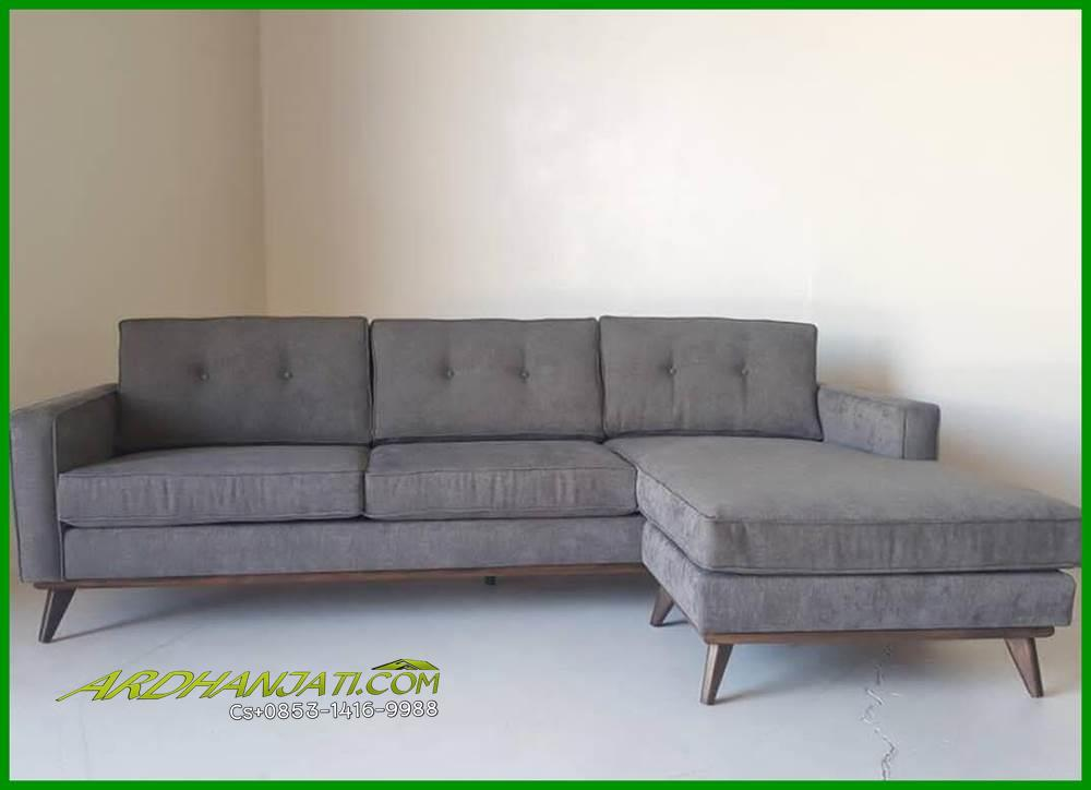 Sofa L Minimalis Vintage Terbaru