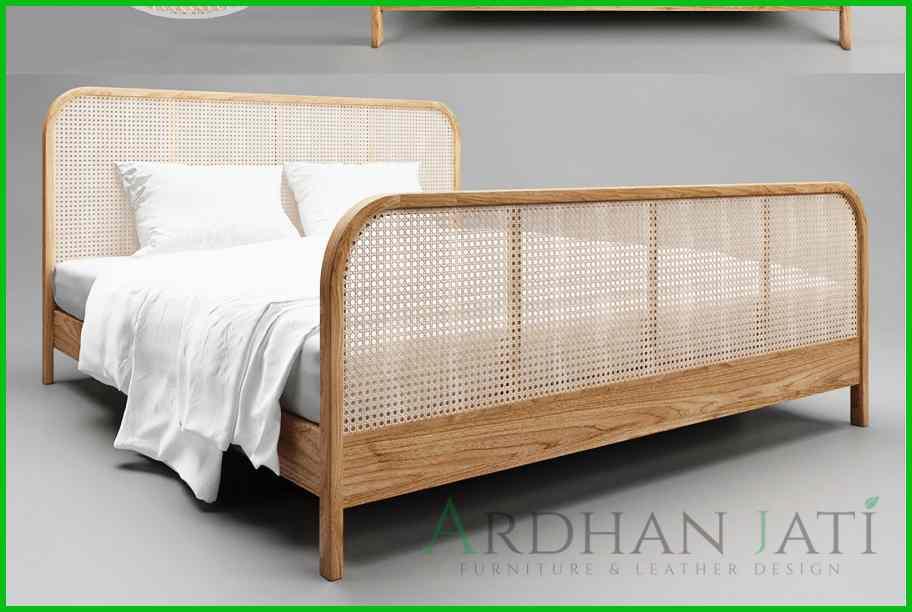 Ranjang Tempat Tidur Rotan Minimalis Terbaru