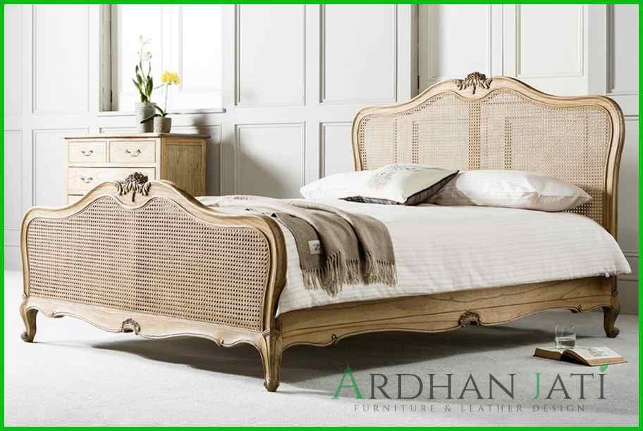 Tempat Tidur Rattan Minimalis Modern