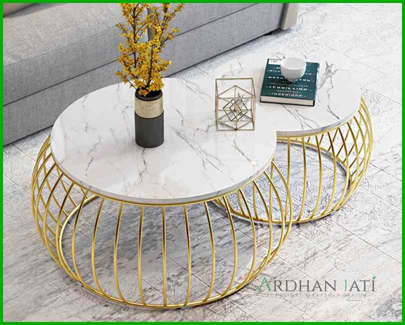Round Stainless Coffee Table